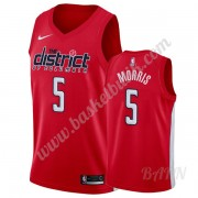 Barn NBA Tröja Washington Wizards 2019-20 Markieff Morris 5# Röd Earned Edition Swingman..