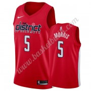Washington Wizards Basket Tröja 2019-20 Markieff Morris 5# Röd Earned Edition Swingman..
