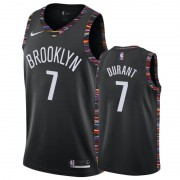 Brooklyn Nets Basket Tröja 2019-20 Kevin Durant 7# Svart City Edition Swingman..