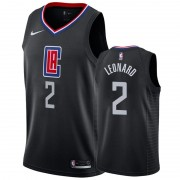 Barn NBA Tröja Los Angeles Clippers 2019-20 Kawhi Leonard 2# Svart Statement Edition Swingman..