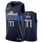 Barn NBA Tröja Dallas Mavericks 2019-20 Luka Doncic 77# Marinblå Statement Edition Swingman..