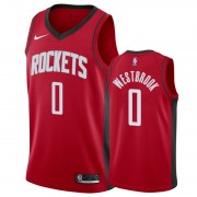 Houston Rockets Basket Tröja 2019-20 Russell Westbrook 0# Röd Icon Edition Swingman..