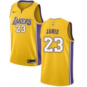 Los Angeles Lakers Basket Tröja 2018 LeBron James 23# Icon Edition..