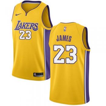 Los Angeles Lakers Basket Tröja 2018 LeBron James 23# Icon Edition