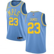 Los Angeles Lakers Basket Tröja 2018 LeBron James 23# Light Blue Hardwood Classics..