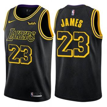 Barn NBA Tröja Los Angeles Lakers 2018 LeBron James 23# City Edition