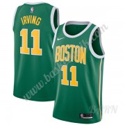 Barn NBA Tröja Boston Celtics 2019-20 Kyrie Irving 11# Grön Earned Edition Swingman..