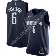 Barn NBA Tröja Dallas Mavericks 2019-20 Kristaps Porzingis 6# Marinblå Finished Statement Edition Sw..