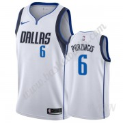 Barn NBA Tröja Dallas Mavericks 2019-20 Kristaps Porzingis 6# Vit Association Edition Swingman..