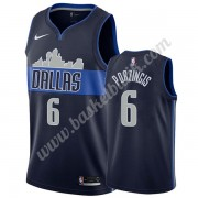 Dallas Mavericks Basket Tröja 2019-20 Kristaps Porzingis 6# Marinblå Statement Edition Swingman..