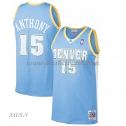 Barn NBA Tröja Denver Nuggets 2003-04 Carmelo Anthony 15# Light Blue Hardwood Classics..