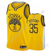 Barn NBA Tröja Golden State Warriors 2019-20 Kevin Durant 35# Guld Earned Edition Swingman..