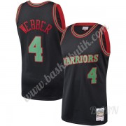 Barn NBA Tröja Golden State Warriors 1993-94 Chris Webber 4# Svart Hardwood Classics Swingman..