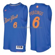 New York Knicks Basketkläder 2016 Kristaps Porzingis 6# NBA Jultröja..