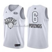 New York Knicks Kristaps Porzingis 6# Vit 2018 All Star Game NBA Basketlinne..
